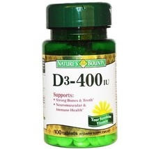 Nature's Bounty D3-400 IU Tablets - $8.50