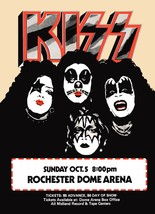 KISS Band Rochester Dome Arena 1975 24 x 33 Inch Custom Poster - Concert... - $45.00
