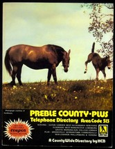 1981-82 Preble County Plus Ohio Telephone Directory W/ Yellow Pages Coun... - $17.05