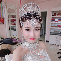 Bridal Wedding Rhinestone Tiara set at Bling Brides Bouquet online bridal store - $139.99