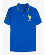 US Polo ASSN Solid Collar Polo Shirt,China Blue,M - $15.83