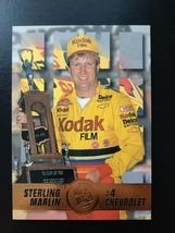 1995 Press Pass Premium Sterling Marlin #4 Kodak Chevrolet Chevy Card #1... - $4.49