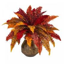 """20"""" Autumn Boston Fern Artificial Plant in Planter - $89.99+"""
