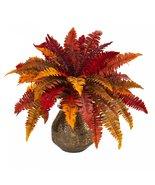 """20"""" Autumn Boston Fern Artificial Plant in Planter - $89.99"""
