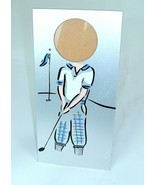 Vintage 90s Metal Golf Picture Frame Man Cave knickers kitsch head shot  - $9.89