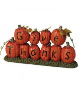 Give Thanks Pumpkin Inspirational Home Autumn Fall Harvest Thanksgiving ... - $21.00