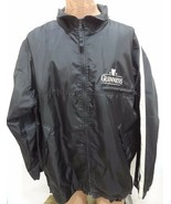 Guinness Mens 2XLT Roots Black Nylon Lined Windbreaker Jacket Made in Ca... - $37.73