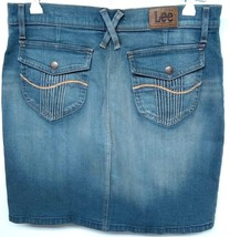 Lee 1889 VF Jeanswear Re-purposed Jeans To Skirt Size M Denim Faded Worn... - $10.14