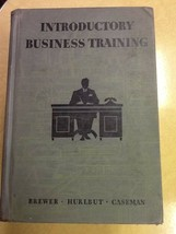 Introductory Business Training 1940 Hardcover Book - $1.98