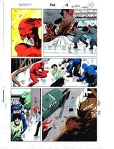 Rare 1 of a kind 1992 Daredevil 302 page 20 Marvel Comics color guide ar... - $99.50
