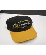 Vintage 1990s Colorado Buffaloes Snap Back Cap Hat Black Yellow  - $27.72