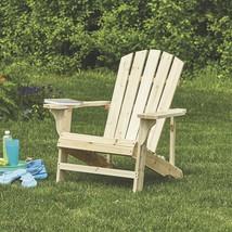 Cedar Unpainted Fir Wood Outdoor Backyard Lawn Furniture Patio Adirondac... - $49.49