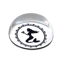 "Cameo Mermaid Illustration Nautical Art 2"" Crystal Dome Magnet or Paperw... - £12.13 GBP"