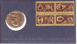 1972 Bicentennial First Day of Issue Cover George Washington Medals - $6.44