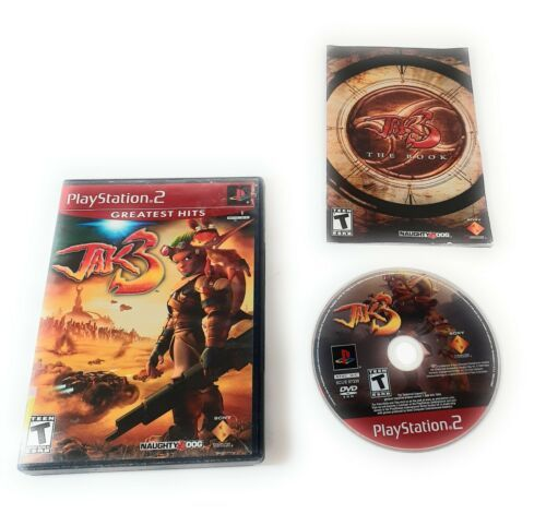 Jak 3 (PlayStation 2, 2004) Ps2 Black Label Complete With Manual - $18.80