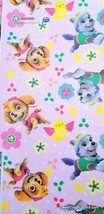 Paw Patrol Skye Wrapping Paper Gift Book Cover Party Wrap Birthday Everest Pink - $14.80