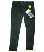 New NWT Womens 4 Dark Designer Love Moschino Green Velvet Pants Corduroy... - $470.00