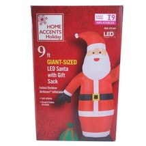 Gemmy Home Accents 9 Ft Giant-Sized LED Santa With Gift Sack Airblown In... - $59.39