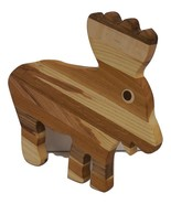 Moose Cutting Board Handcrafted from Mixed Hardwoods - $28.00
