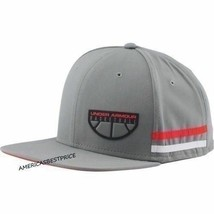 UNDER ARMOUR MEN'S BASKETBALL CORE GRAPHIC SNAP BACK HAT CAP NWT GRAYRED... - $18.85