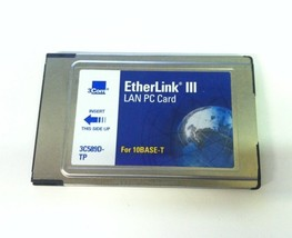 3com 3C589D-TP Etherlink Iii Lan Pc Card For 10BASE-T Pcmcia - $10.00