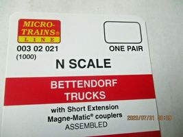 Micro-Trains Stock # 00302021 (1000) Bettendorf Trucks Short Extension N-Scale image 4