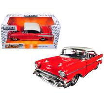 1957 Chevrolet Bel Air Red Bigtime Muscle 1/24 Diecast Model Car by Jada... - $37.75