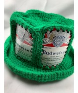 Lot of 2 Vintage Beer Can Knit Hats Budweiser Miller High Life Crochet 1... - $49.45