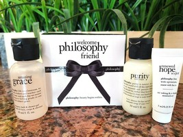 Philosophy 3pc Mini Set ~ Purity, Renewed Hope In A Jar, Amazing Grace Gel Boxed - $14.09
