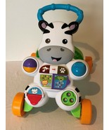 Fisher Price Learn With Me Zebra Walker Baby Infant Walking Standing Mus... - $17.99