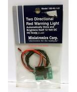 Miniatronics~#100-NL1-01~Two Directional Red Warning Light~12VDC~NOS~Smo... - $16.00