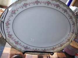 "Noritake Glenwood 5770 Medium Oval Serving Platter 14"" - $28.70"