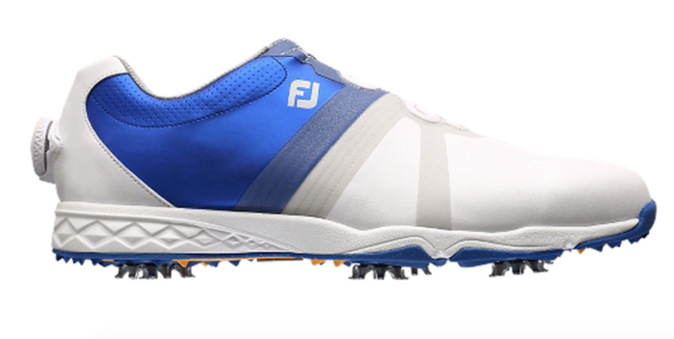 Footjoy White Blue Golf Shoes For Men
