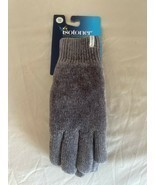 Isotoner Grey Gloves - Heather Knit Soft Warm Fleece Lined Suede Palm - ... - $20.00