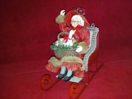 KSA Kurt S Adler Mrs. Claus in her red sled holding her basket #W1750 Goose - $39.99