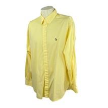 Ralph Lauren Polo Men's Classic Fit Long Sleeve Yellow Shirt 17.5 34/35 XL - $23.27