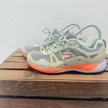 Fila Statique Running Athletic Sneakers Womens 8 Gray Orange Lace Up Shoes - $31.67