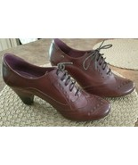 Women's Pikolinos Turin 7331 Lace Up Oxford Leather Heel Brown Shoes Spa... - $95.00