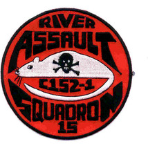 US Army Rivron 15 Naval River Assault Squadron Patch 4.0'' x 4.0'' - $13.85