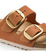 Birkenstock Women Arizona Big Buckle Nubuck Leather Brandy Brown Sandals... - £113.03 GBP