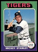 1975 Topps Mickey Stanley, #141 Baseball Card for Collection or a Christ... - $1.95