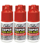 3x CALA Super NAIL GLUE Fingernail Art Clear Adhesive Bond Fake Acrylic ... - $19.00