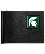 michigan state spartans logo ncaa college emblem leather bill clip wallet - $31.58