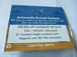 Jacksonville Terminal Company # 205303 Jay 20' Standard Height Container N-Scale image 2