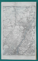 "1925 BAEDEKER MAP - GERMANY Munich & Environs Ammer See 6 x 10"" (15 x 25... - $14.40"