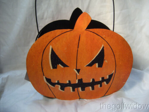 Bethany Lowe Jack O Lantern Tin Candy Container Halloween