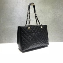 BRAND NEW AUTH CHANEL QUILTED CAVIAR GST GRAND SHOPPING TOTE BAG SHW  image 3