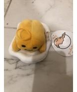 "Gudetama The Lazy Egg Plush 6"" Length Laying Sanrio Fiesta New A26E - $11.95"
