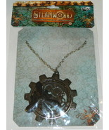 SteamPunk Cosplay Victorian Large Gear Black Propeller Necklace, NEW SEALED - $12.59