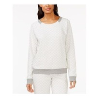 Alfani Quilted-print Pajama Top in Stone Gray, size XXL (NWT $43) - $23.51